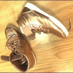 Rose Gold High Top DKNY Sneakers